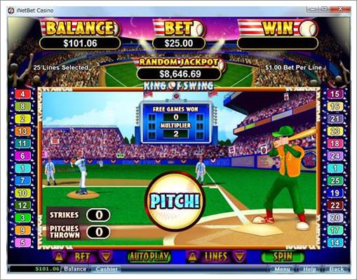 マルチプライヤーを決める野球ゲーム
