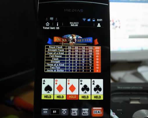 モバイル版ビデオポーカー