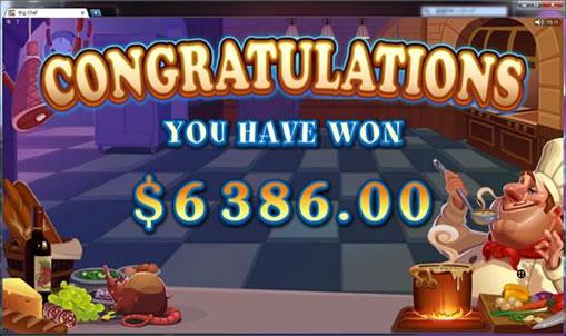 トータル6386ドルの獲得