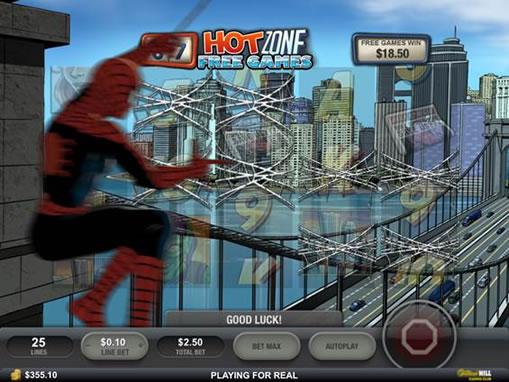 高速移動でぶれるスパイダーマン