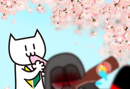 もちを食べる猫