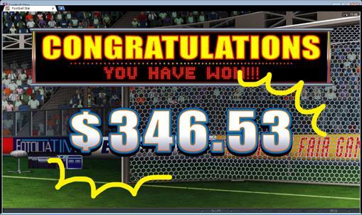 最終的には346ドルのビッグウィン!