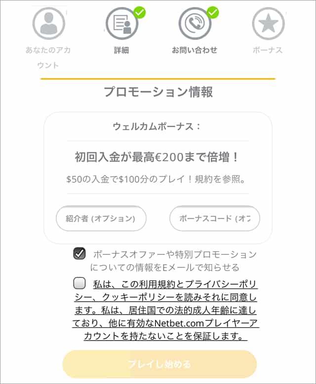 ネットベットカジノ登録画面5