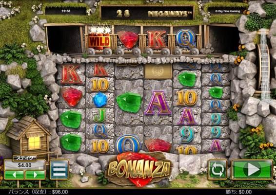 ボナンザのゲーム画面