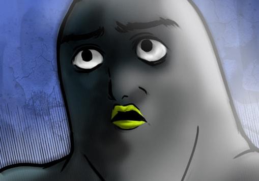 顔芸をするペンギン