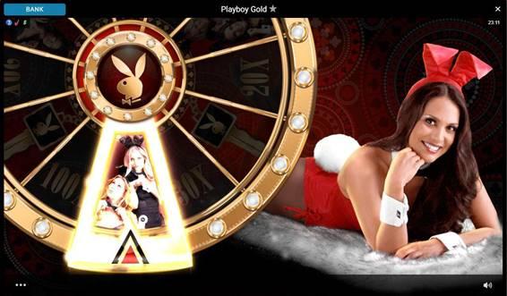Playboy Goldのボーナスホイール