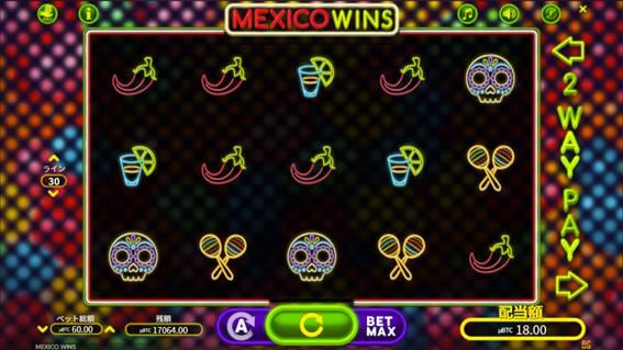 MEXICO  WINSのプレイ画面