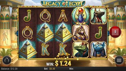 レガシーオブエジプトのプレイ画面