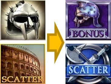 グラディエーターの図柄の進化