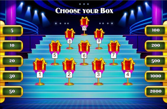 プレゼント箱を選択
