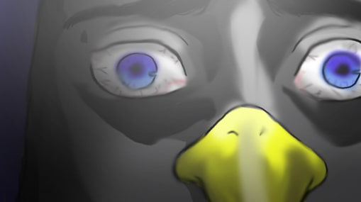 怒るペンギン