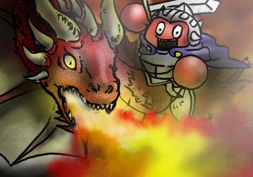 ドラゴンとカニスピ