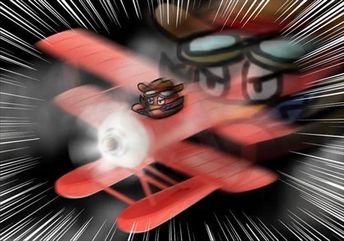 戦闘機に乗るカニスピ