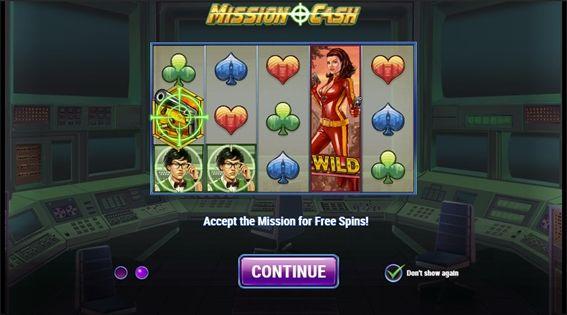 MISSION CASH説明画面
