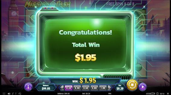 ボーナスの結果$1.95