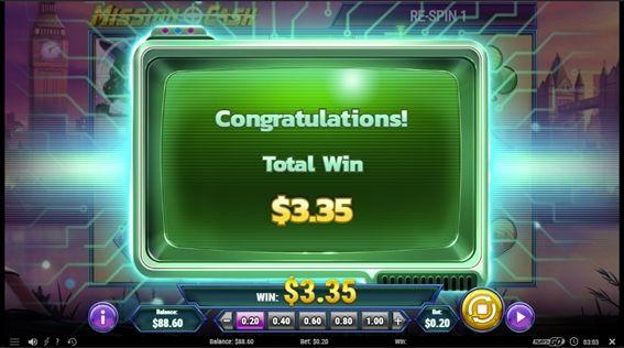 ボーナスの結果$3.35