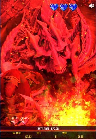 ドラゴンが炎を吹く