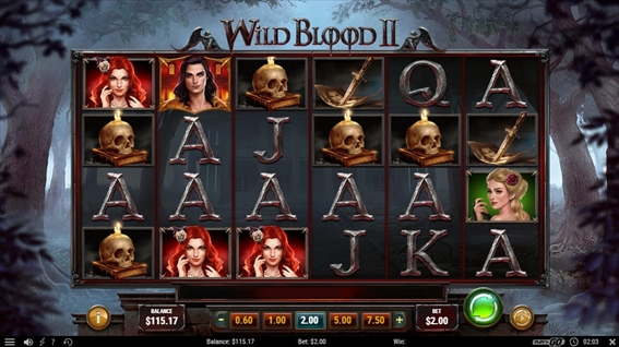 Playngo(プレインゴー)の新作Wild  BloodⅡを遊ぶ