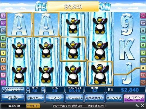 ペンギンがたくさん出た