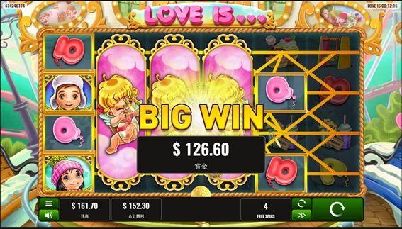 3列拡大ワイルドでBIG WIN獲得