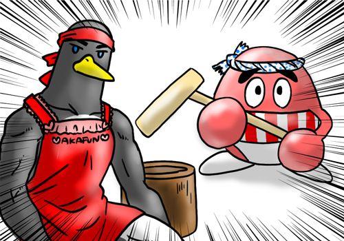 クールポコ風カニスピさんとペンギンさん