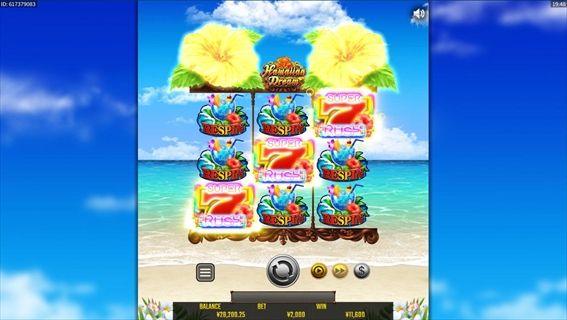 『HawaiianDream(ハワイアンドリーム)』プレイ画面