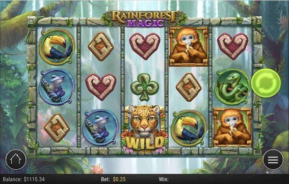 『RAINFOREST MAGIC(レインフォレストマジック』プレイ画面