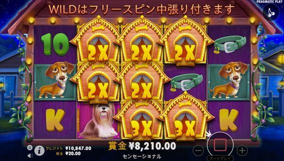 8210円獲得