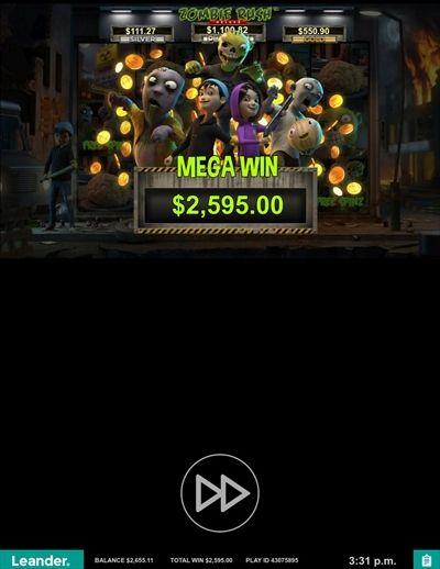 MEGAWIN$2595.00獲得