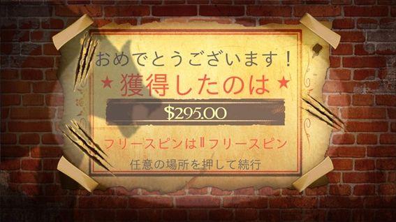獲得したのは$295.00