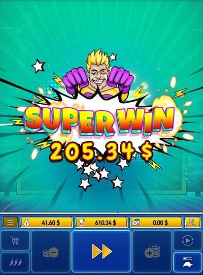 SUPERWIN$205.34獲得