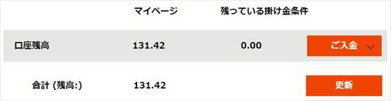 残高131.42