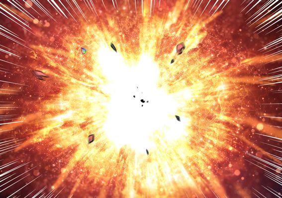 スーパーライオンロボ爆発1