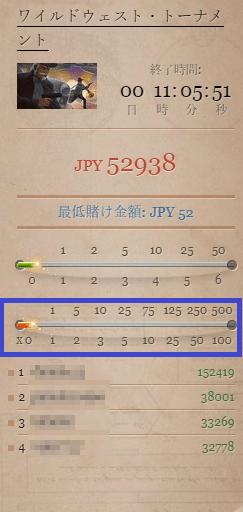 最低掛け金額JPY52