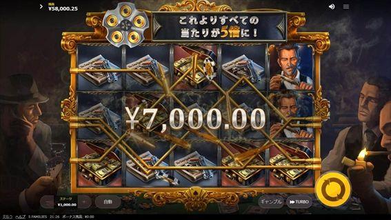 7000円獲得