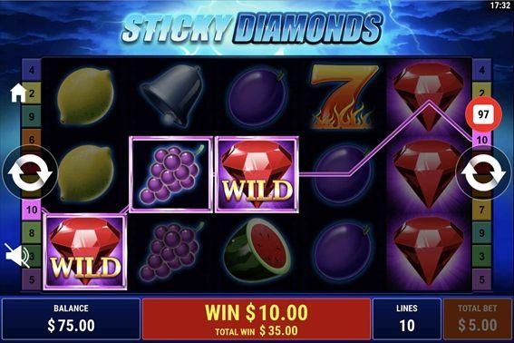 Sticky Diamonds赤ダイヤ2つ