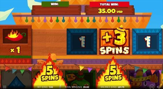 5SPINS2つ、+3SPINS