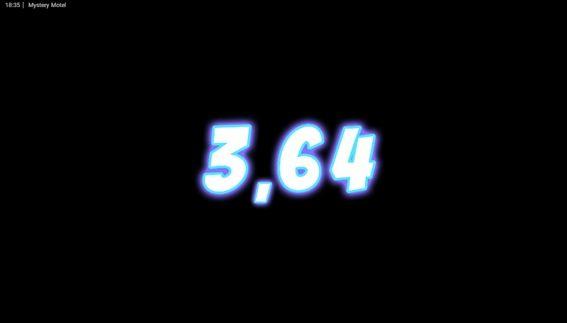 結果3.64獲得
