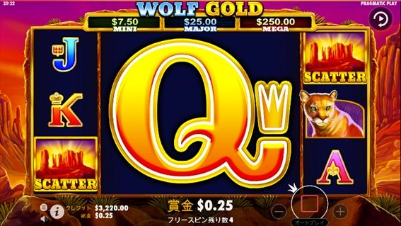 WOLF GOLDプレイ画面