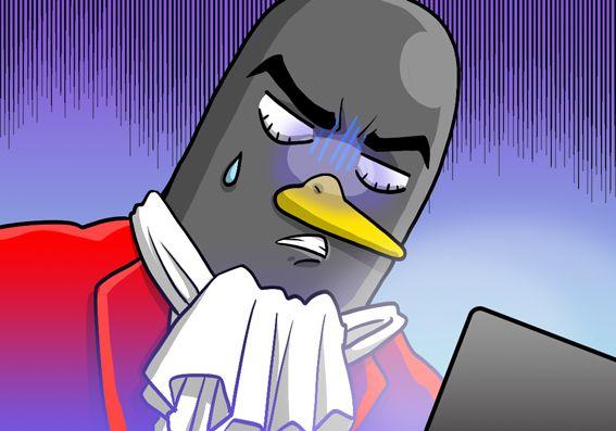 ゲンナリしているペンギンさん