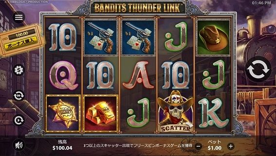 BANDITS THUNDER LINKプレイ画面