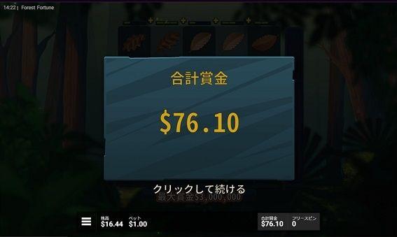 合計賞金$76.10