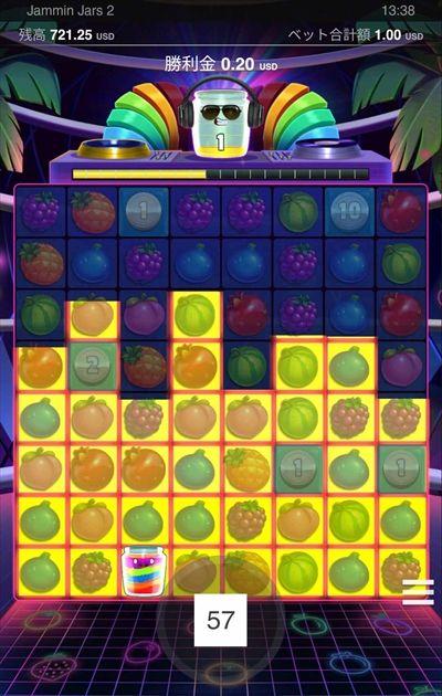 Jammin' Jars2プレイ画面