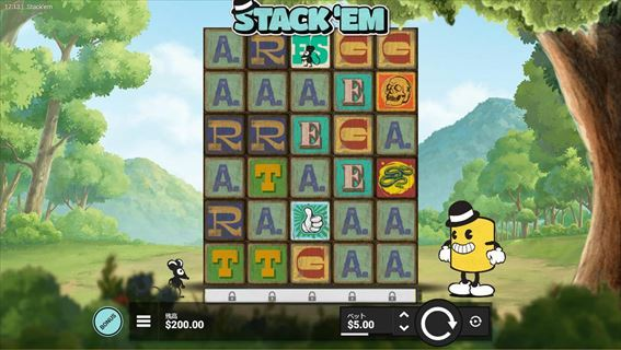 『Stack'Em』は6×5のグリッドスロット