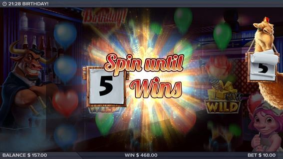 Spin until 5 Wins