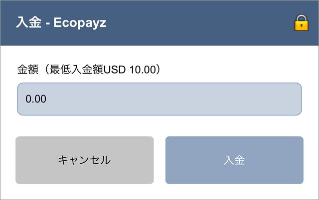 エコペイズの入金画面2